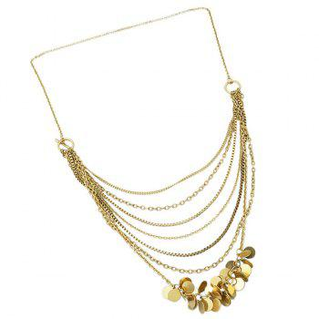 Alloy Multilayered Sequins Pendant Necklace