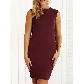 Slimming Lace-Up Hollow Out Bodycon Dress