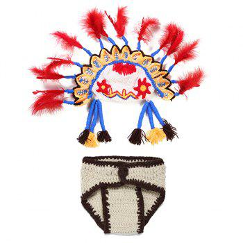 Crochet Photography Knitted American Indian Ethnic Baby Clothes Set