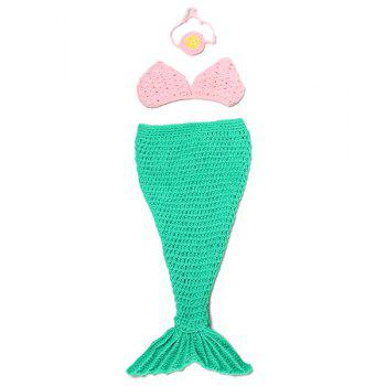Full Love Newborn Baby Photography Prop Knitted Crochet Mermaid Tail Costume