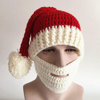 Casual Face Muff Design Christmas Knitted Hat