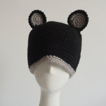 Funny Bear Ear Knitted Hat