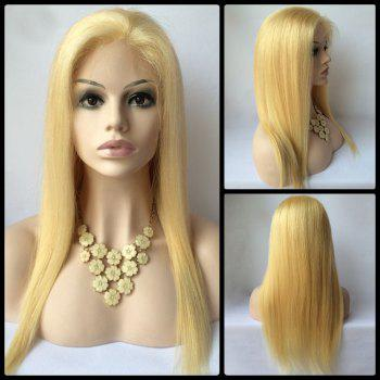 Sparkling Long Lace Front Real Natural Hair Straight Wig