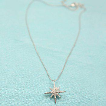 Rhinestone Zircon Star Embellished Necklace