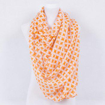 Trendy Copper Cash Print Voile Shawl Wrap Scarf