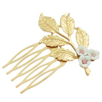 Alloy Leaf Flower Hair Accessory