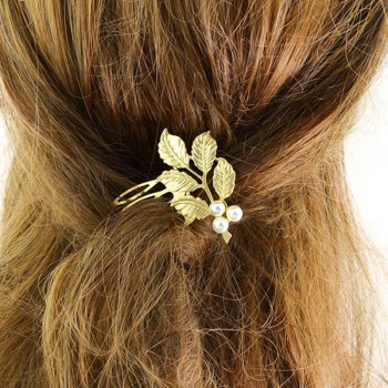 Faux Pearl Alloy Hair Accessory