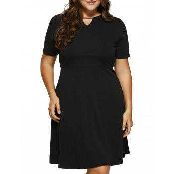 Plus Size Cut Out Fit and Flare Dress