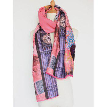 Retro Big Flower Printing Cotton Shawl Scarf