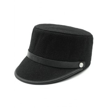 Keep Warm Wool Belt Flat Top Equestrian Hat
