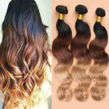 3 Pcs Ombre Color Body Wave 7A Virgin Indian Hair Weaves