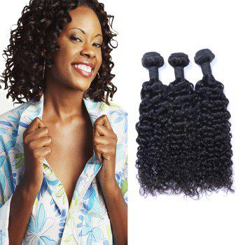3 Pcs Jerry Curly 7A Virgin Indian Hair Weaves - 14INCH*14INCH*14INCH 14INCH*14INCH*14INCH