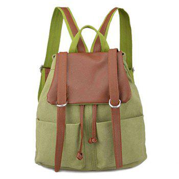 Splicing Colour Block Drawstring Backpack