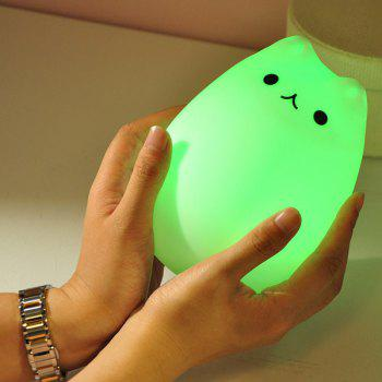 Colorful Cat Cartoon USB Charging LED Night Light - COLORFUL