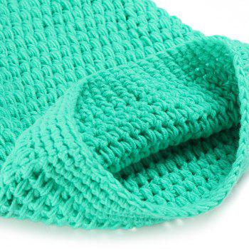 Full Love Newborn Baby Photography Prop Knitted Crochet Mermaid Tail Costume - LIGHT GREEN