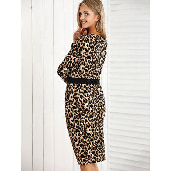 Leopard Print Crop Top and High Waist Skirt Set - LEOPARD M