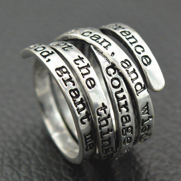 Vintage Engraving Letters Ring - SILVER 17