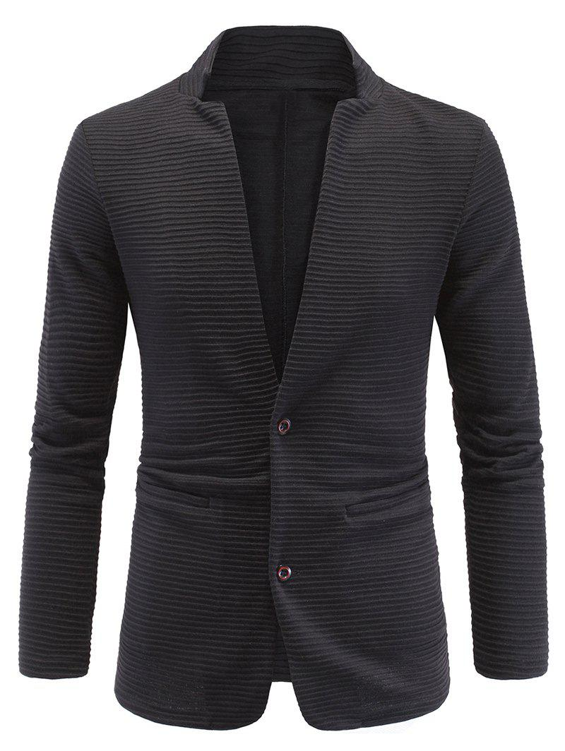 Long Sleeve Elbow Patch Ribbed Blazer 194831105