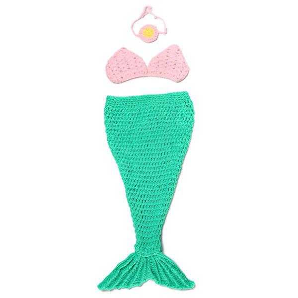 Full Love Newborn Baby Photography Prop Knitted Crochet Mermaid Tail Costume newborn baby boy girl infant warm cotton outfit jumpsuit romper bodysuit clothes
