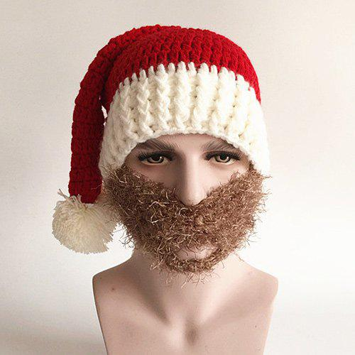 Funny Faux Mustache Christmas Knitted Hat