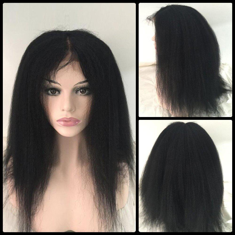 Stupendous Medium Straight Side Parting Lace Front Real Natural Hair Bob Short Hairstyles For Black Women Fulllsitofus