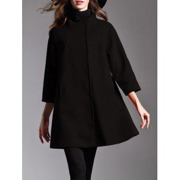Stand Collar Woolen Cape Coat