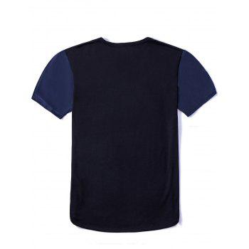 Vogue Round Neck 3D Cool Elk Print Fitted Short Sleeves Men's Ombre T-Shirt - COLORMIX 3XL