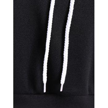 Long Sleeve Drawstring Thicken Hoodie - M M