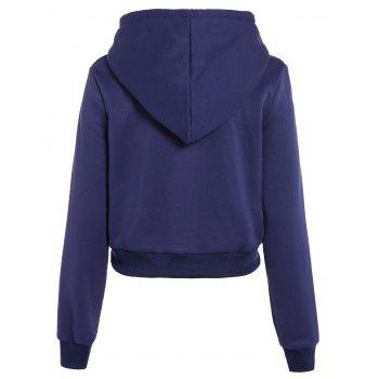 Long Sleeve Drawstring Thicken Hoodie - S S