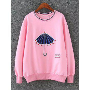 Drop Shoulder Embrioidered Sweatshirt