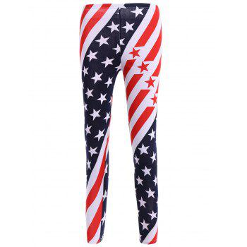 High Waisted Stars and Stripes American Flag Leggings