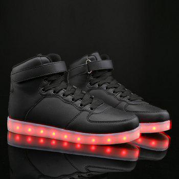 Lights Up Led Luminous Tie Up Casual Shoes