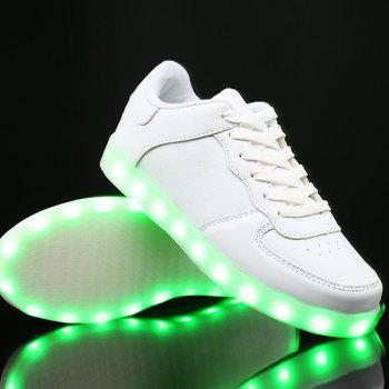 Led Luminous PU Leather Lights Up Casual Shoes
