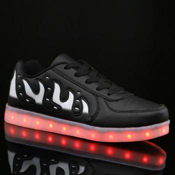 Led Luminous Color Block Lights Up Casual Shoes