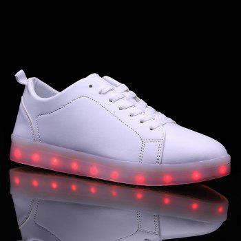 Led Luminous Lace Up Casual Shoes