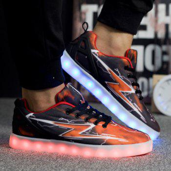 Led Luminous Lightning Print Lights Up Casual Shoes