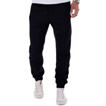 Zipper Fly Beam Feet Low-Slung Crotch Design Jogger Pants