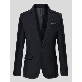 Lapel One-Button Long Sleeve Slimming Blazer