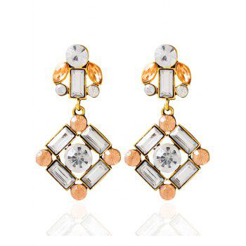 Faux Crystal Geometric Layered Earrings