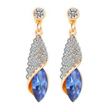 Faux Crystal Rhinestoned Oval Drop Earrings