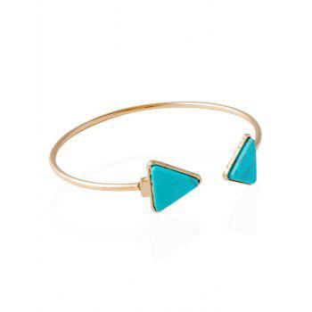 Artificial Rammel Triangle Cuff Bracelet