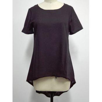Asymmetrical Plain T-Shirt