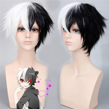 Danganronpa	Monokuma Piano Color Fluffy Straight Synthetic Cosplay Wig