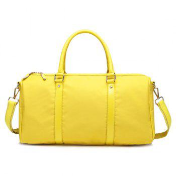 Nylon PU Spliced Tote Bag