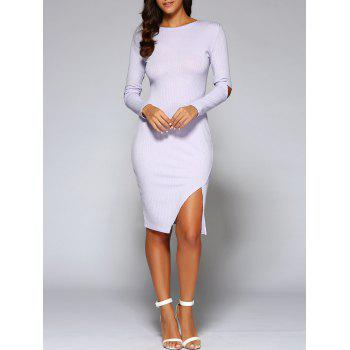 Cut Out Sleeves Furcal Sweater Dress