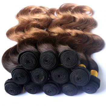 Multi Color 3Pcs/Lot Body Wave 6A Virgin Brazilian Hair Weaves - COLORMIX 26INCH*26INCH*26INCH