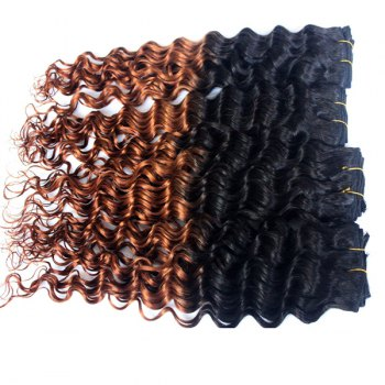 Double Color Deep Wave 3Pcs/Lot 6A Virgin Brazilian Hair Weaves - COLORMIX COLORMIX