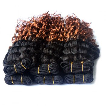 Double Color Deep Wave 3Pcs/Lot 6A Virgin Brazilian Hair Weaves - 24INCH*24INCH*24INCH 24INCH*24INCH*24INCH