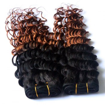 Double Color Deep Wave 3Pcs/Lot 6A Virgin Brazilian Hair Weaves - COLORMIX 24INCH*24INCH*24INCH