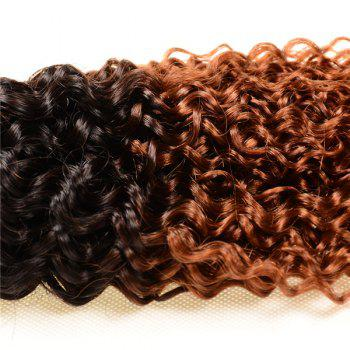 Double Color Deep Curly 3Pcs/Lot 6A Virgin Brazilian Hair Weaves - COLORMIX 12INCH*12INCH*12INCH